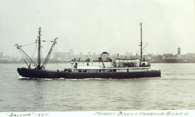 Photograph of Salvor, MDHB (Mersey Docks and Harbour Board) card