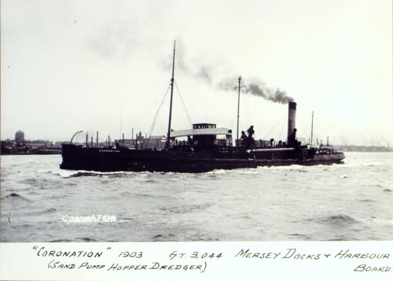 Photograph of Coronation, MDHB (Mersey Docks and Harbour Board) card