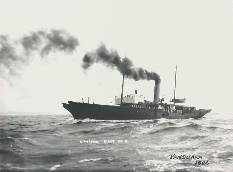 Photograph of Vanduara, MDHB (Mersey Docks and Harbour Board) card