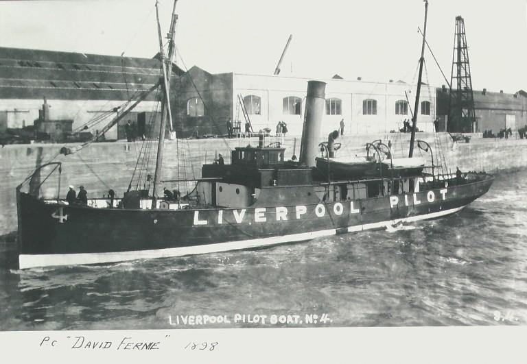Photograph of David Fernie, MDHB (Mersey Docks and Harbour Board) card