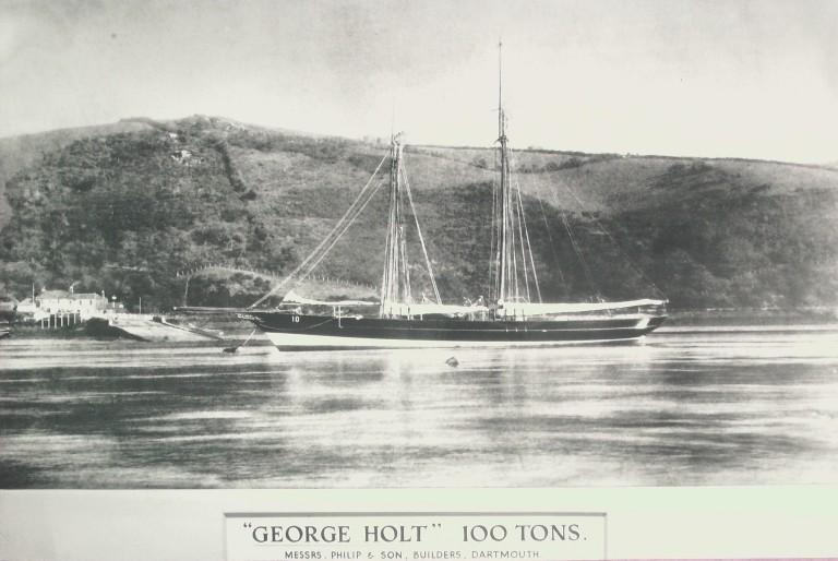 Photograph of George Holt, MDHB (Mersey Docks and Harbour Board) card
