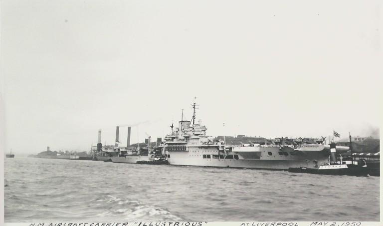 Photograph of Illustrious, Admiralty card