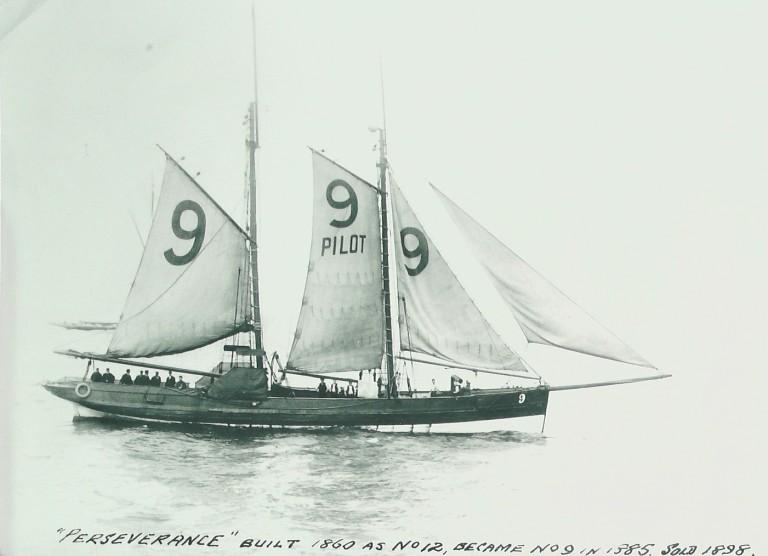 Photograph of Perseverance, MDHB (Mersey Docks and Harbour Board) card