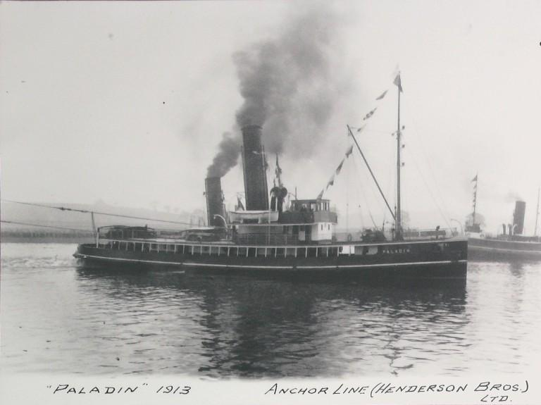 Photograph of Paladin, Alexandra Towing Company card
