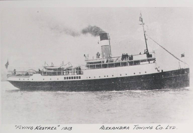Photograph of Flying Kestrel, Alexandra Towing Company card