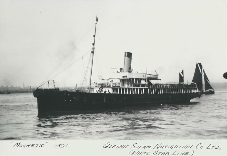 Photograph of Magnetic, White Star Line card