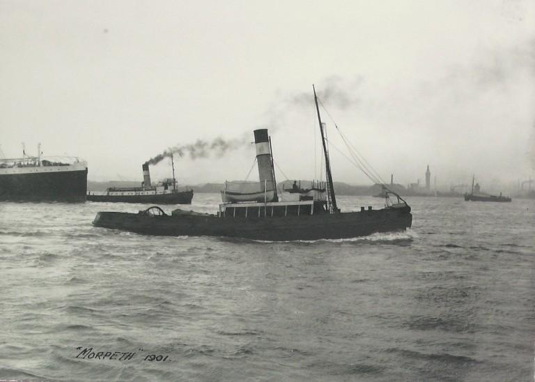 Photograph of Morpeth, Alexandra Towing Company card