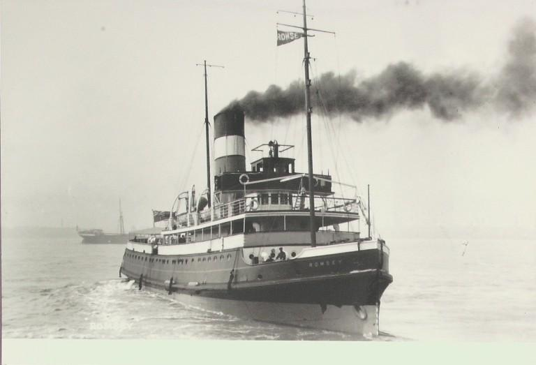 Photograph of Romsey, Alexandra Towing Company card