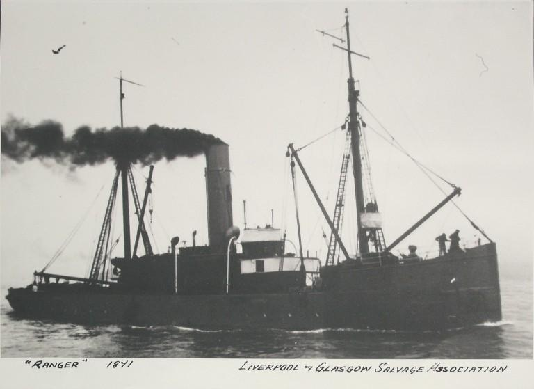 Photograph of Ranger, Liverpool and Glasgow Salvage card