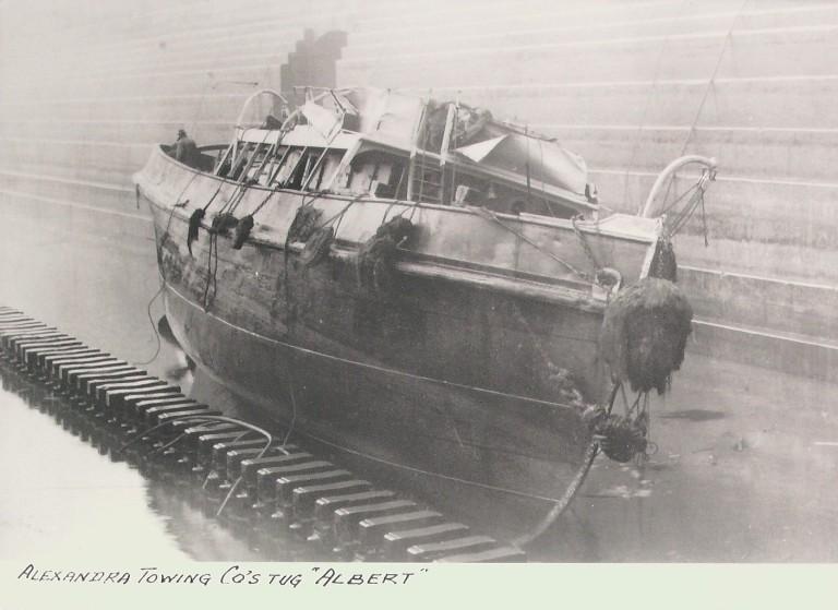 Photograph of Albert, Alexandra Towing Company card