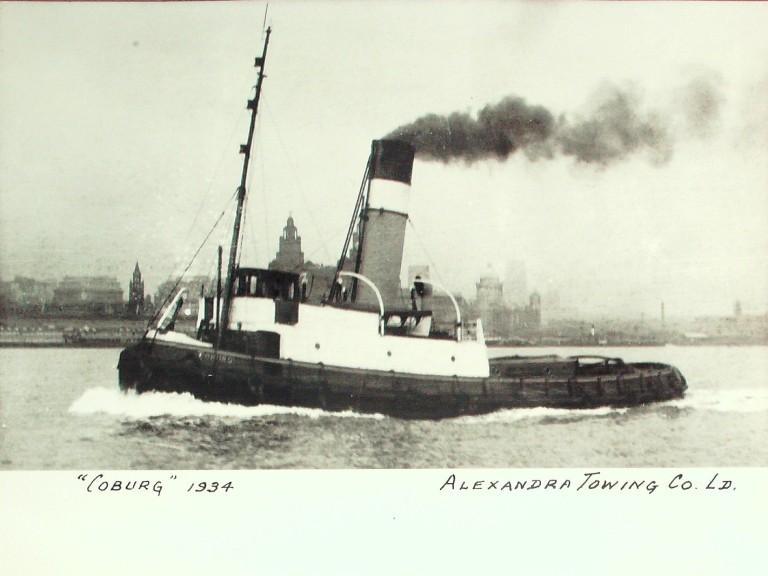 Photograph of Coburg, Alexandra Towing Company card