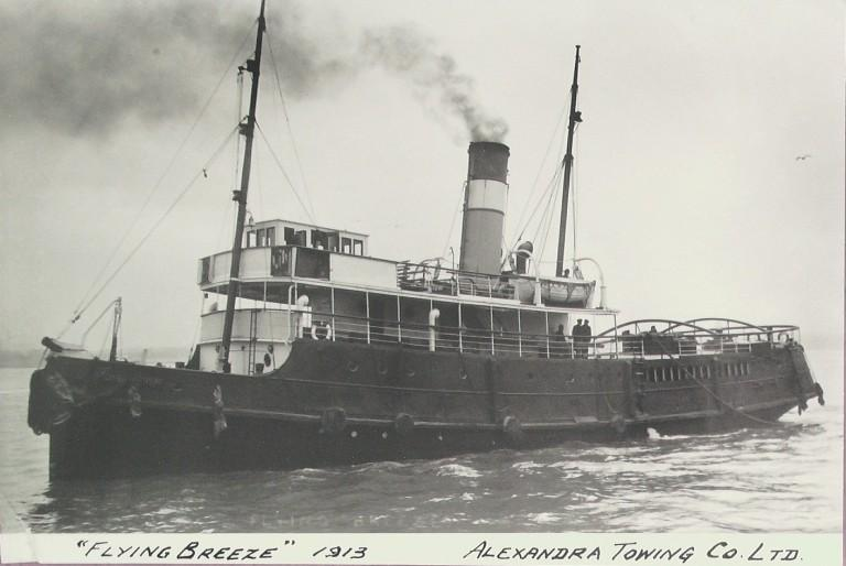 Photograph of Flying Breeze, Alexandra Towing Company card