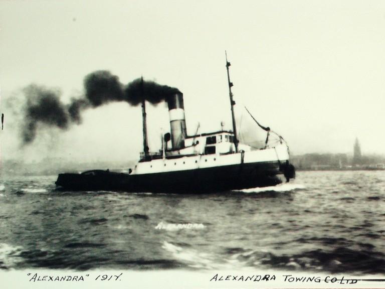 Photograph of Alexandra, Alexandra Towing Company card