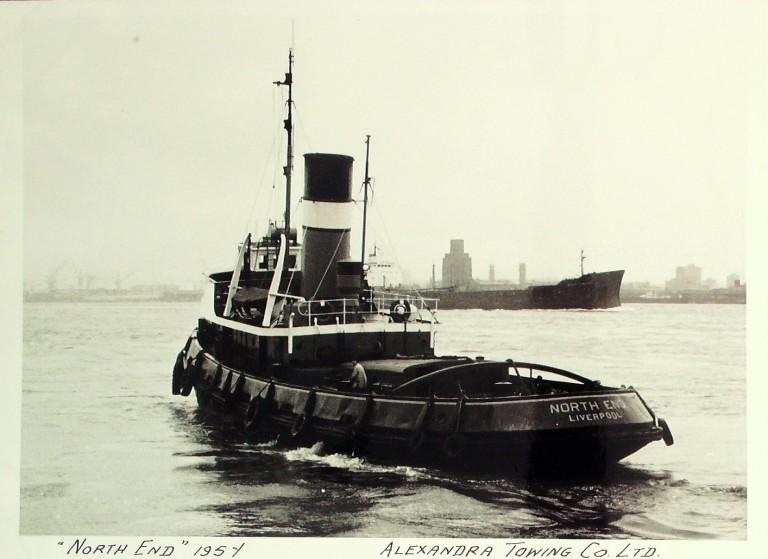 Photograph of North End, Alexandra Towing Company card