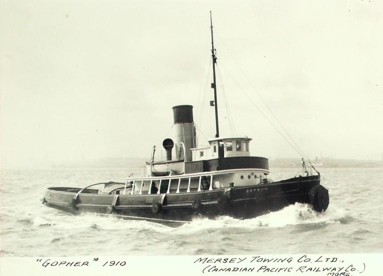Photograph of Gopher, Mersey Towing Co card