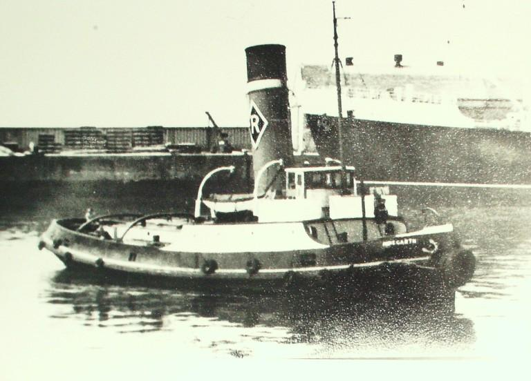 Photograph of Minegarth, Rea Towing Company card