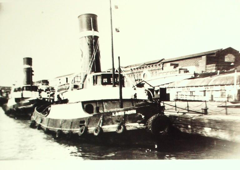 Photograph of Langarth, Rea Towing Company card