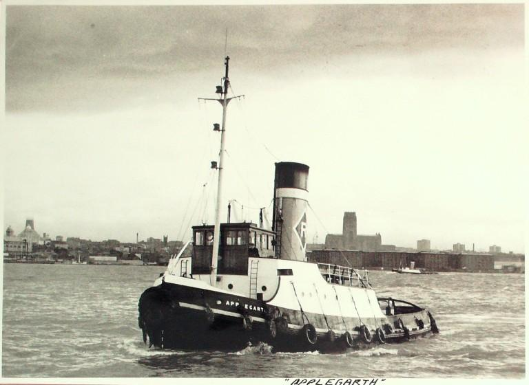 Photograph of Applegarth, Rea Towing Company card