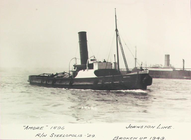Photograph of Amore, Johnston Line card
