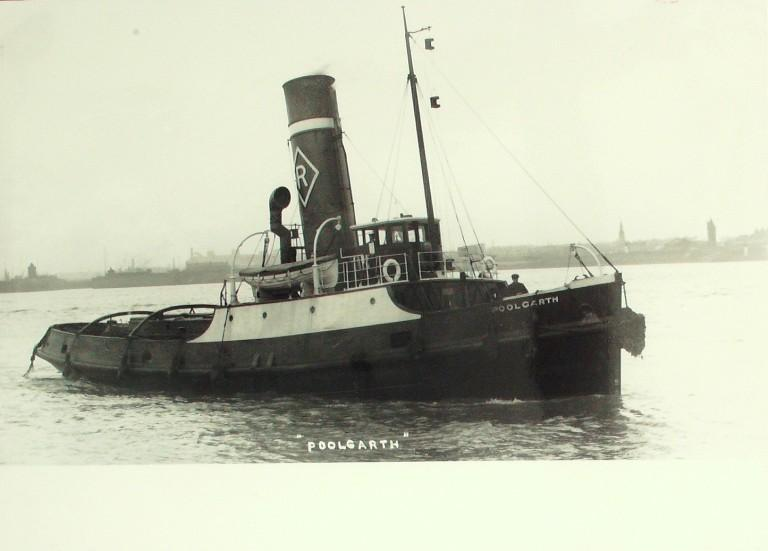 Photograph of Poolgarth, Rea Towing Company card