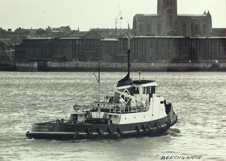 Photograph of Beechgarth, Rea Towing Company card