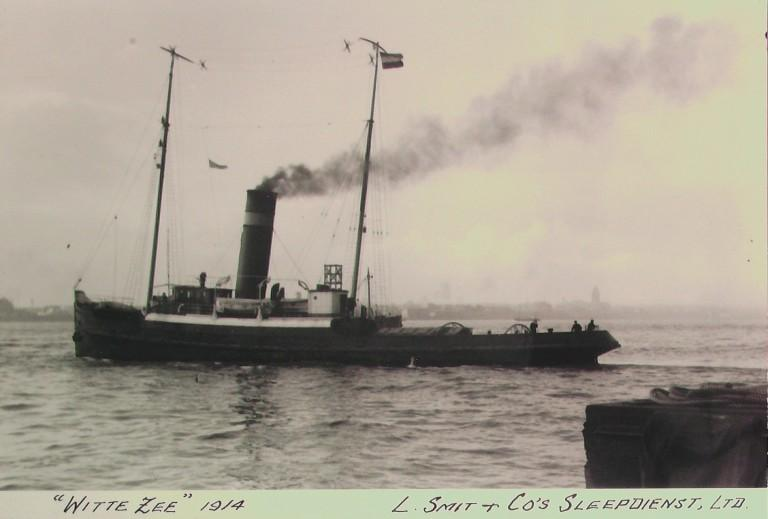 Photograph of Witte Zee, L Smit and Company Internationale Sleepdienst card
