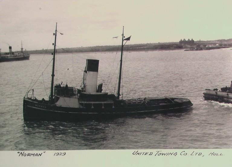 Photograph of Norman, United Towing Company card
