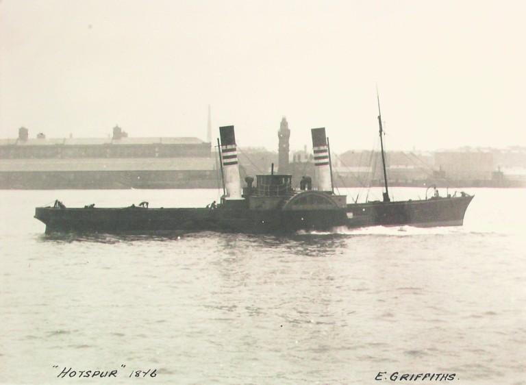 Photograph of Hotspur, E Griffiths card