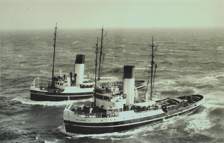 Photograph of Masterman and Merchantman, United Towing Company card