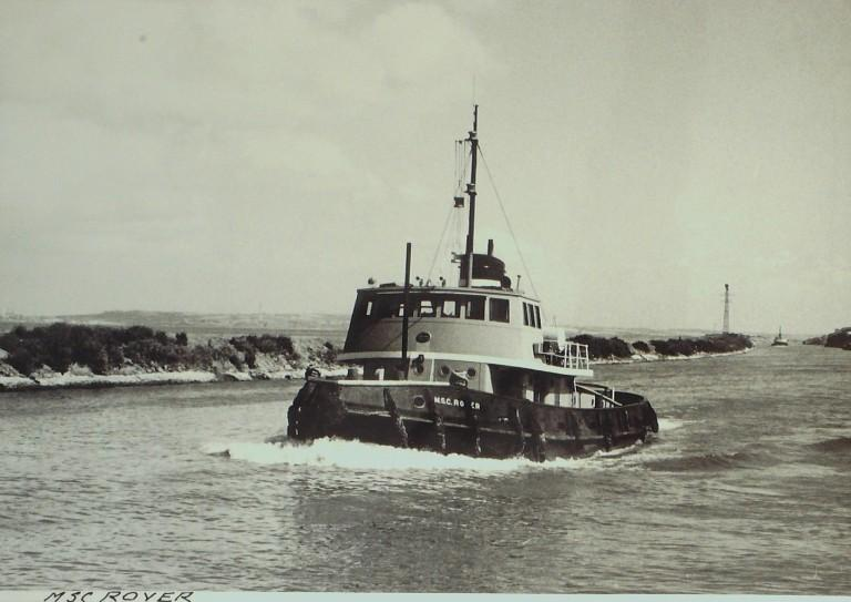 Photograph of Rover, Manchester Ship Canal Company card