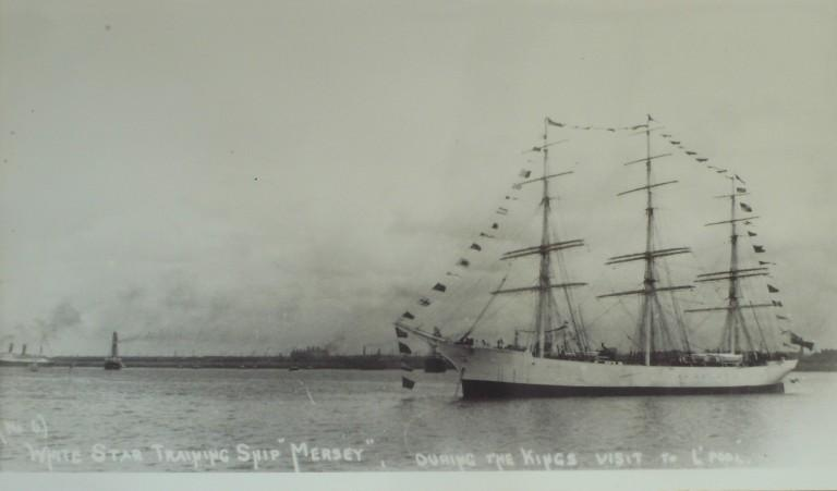 Photograph of Mersey, White Star Line card