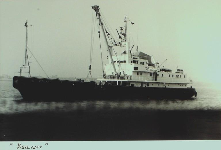 Photograph of Vigilant, MDHB (Mersey Docks and Harbour Board) card