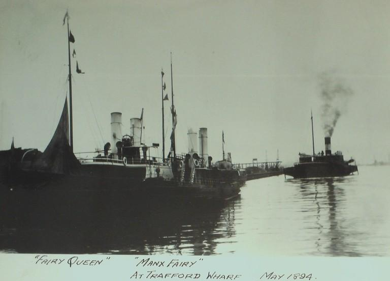 Photograph of Fairy Queen and Manx Fairy, Mona Steamship Co card
