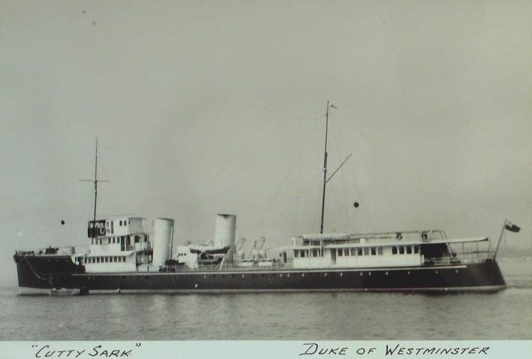 Photograph of Cutty Sark (ex Destroyer), Duke of Westminster card