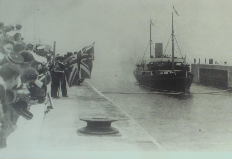 Photograph of Galatea, MDHB (Mersey Docks and Harbour Board) card