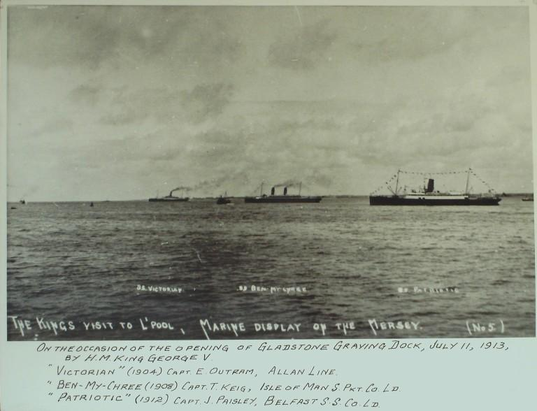 Photograph of Victorian, Patriotic and Ben-My-Chree card