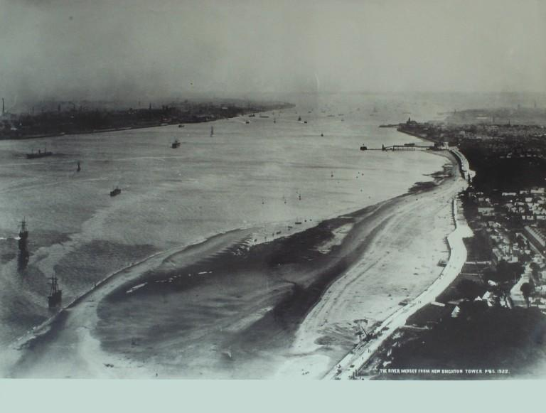 Photograph of View of Mersey from New Brighton tower card