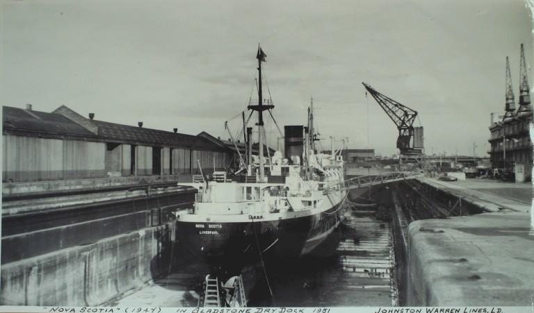 Photograph of Nova Scotia, Johnston Warren Line card
