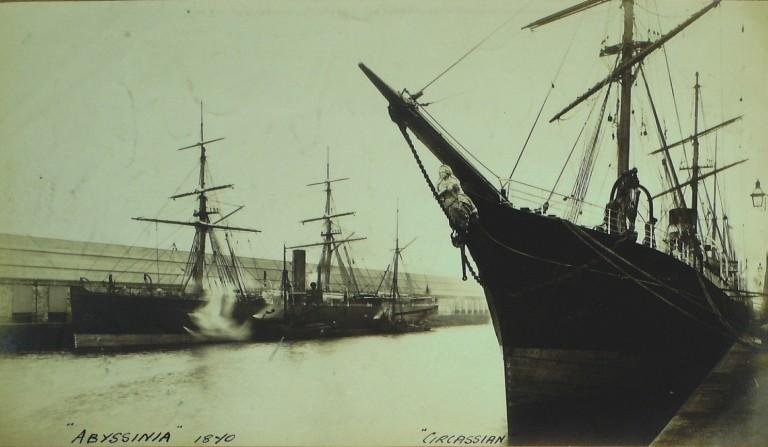 Photograph of Circassian and Abyssian, Allan Line card