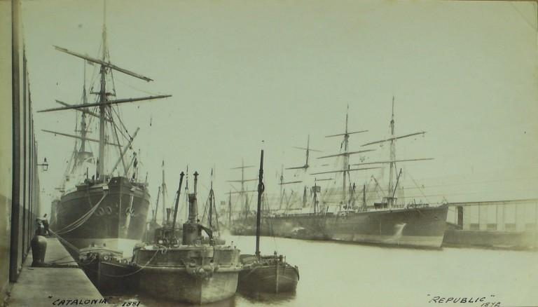 Photograph of Catalonia, Cunard Line card