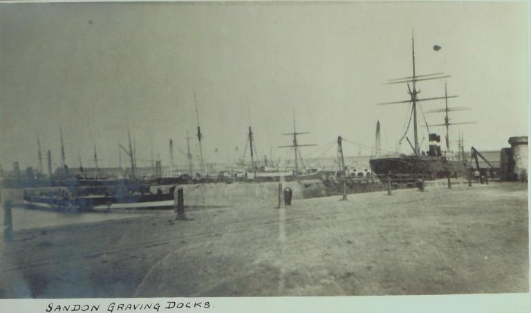 Photograph of Sandon Graving Docks card