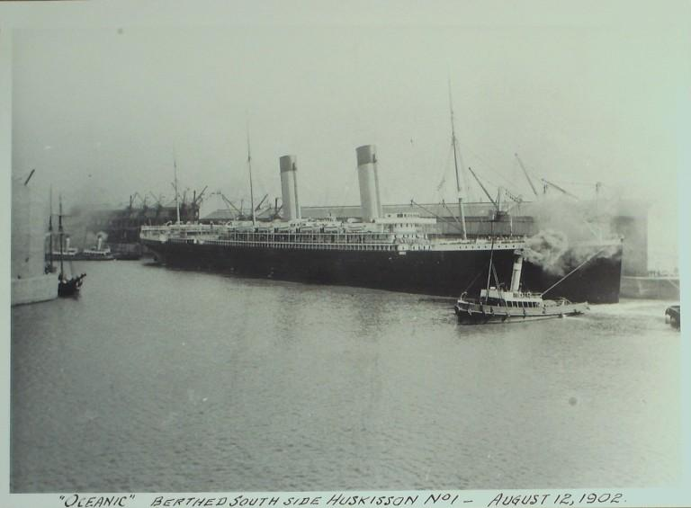 Photograph of Oceanic, White Star Line card
