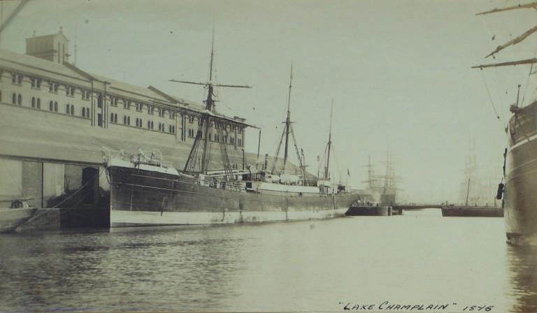 Photograph of Lake Champlain, Canada Shipping Co card