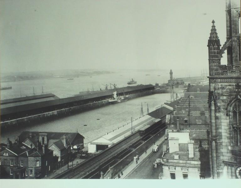 Photograph of Aerial View of Princes Dock card