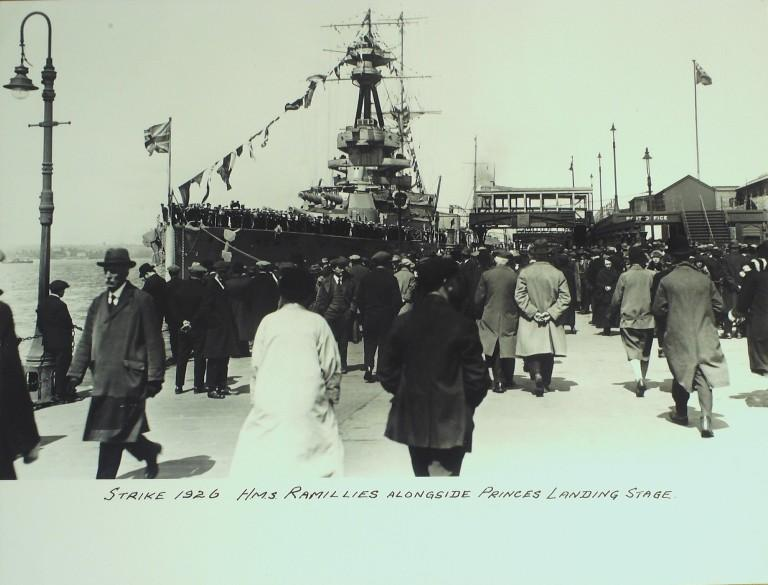Photograph of HMS Ramillies, Admiralty card