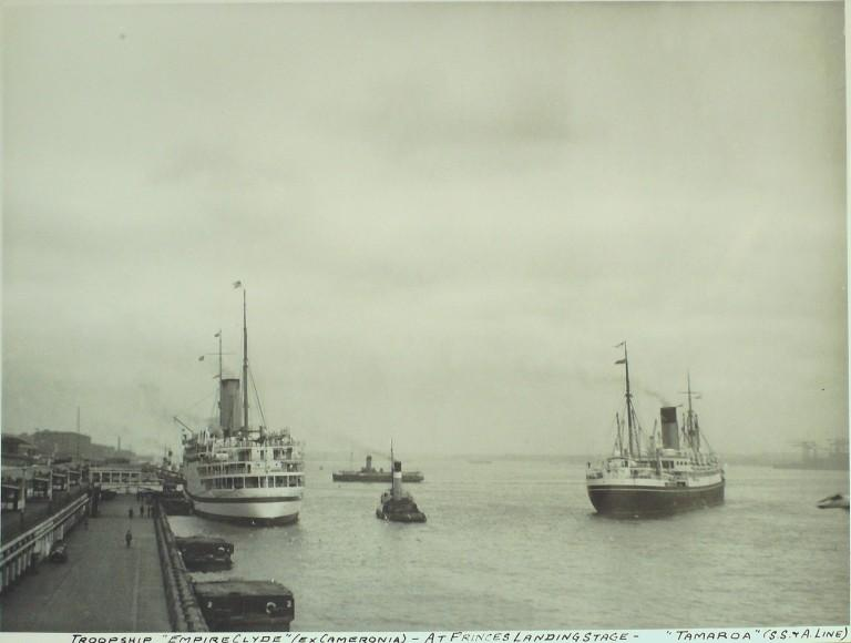 Photograph of Empire Clyde, Ministry of Transport card