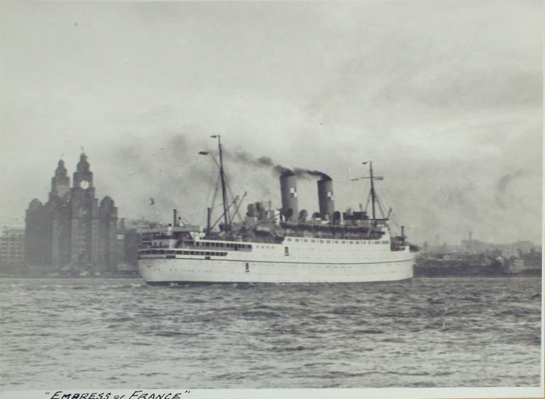 Photograph of Empress of France, Canadian Pacific card