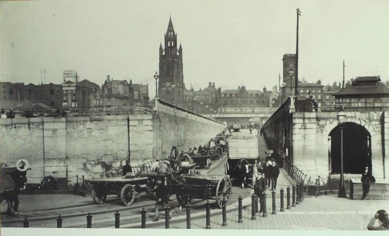Photograph of Floating Bridge Liverpool Landing Stage card