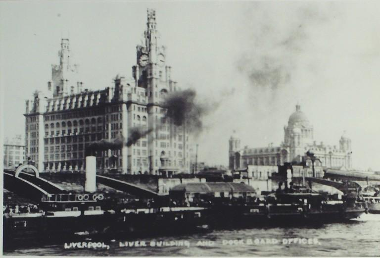 Photograph of Liver Building and Dock Board Offices C 1913 card