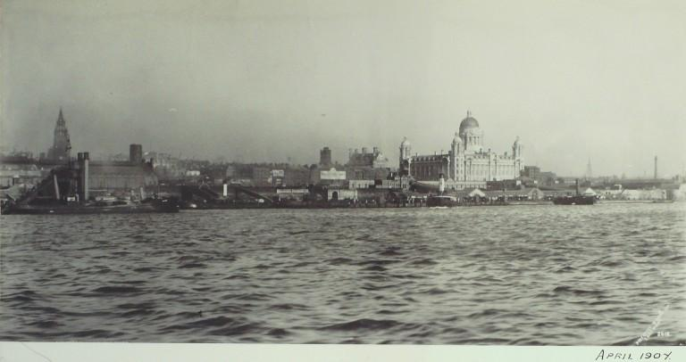 Photograph of Liverpool Waterfront card